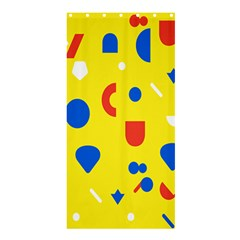 Circle Triangle Red Blue Yellow White Sign Shower Curtain 36  X 72  (stall)  by Alisyart