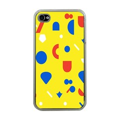 Circle Triangle Red Blue Yellow White Sign Apple Iphone 4 Case (clear) by Alisyart