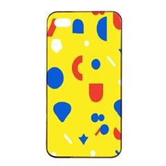 Circle Triangle Red Blue Yellow White Sign Apple Iphone 4/4s Seamless Case (black) by Alisyart