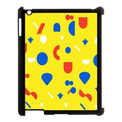 Circle Triangle Red Blue Yellow White Sign Apple Ipad 3/4 Case (black) by Alisyart