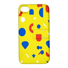 Circle Triangle Red Blue Yellow White Sign Apple Iphone 4/4s Hardshell Case With Stand by Alisyart