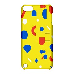 Circle Triangle Red Blue Yellow White Sign Apple Ipod Touch 5 Hardshell Case With Stand by Alisyart
