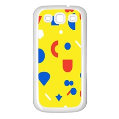 Circle Triangle Red Blue Yellow White Sign Samsung Galaxy S3 Back Case (white) by Alisyart