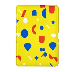 Circle Triangle Red Blue Yellow White Sign Samsung Galaxy Tab 2 (10 1 ) P5100 Hardshell Case  by Alisyart