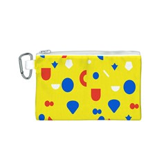 Circle Triangle Red Blue Yellow White Sign Canvas Cosmetic Bag (s) by Alisyart