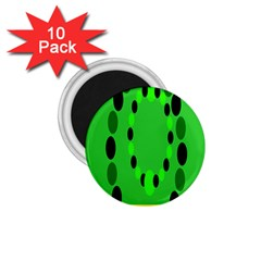 Circular Dot Selections Green Yellow Black 1 75  Magnets (10 Pack)  by Alisyart