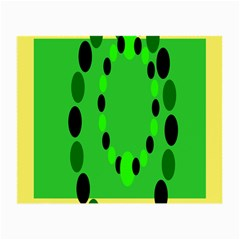 Circular Dot Selections Green Yellow Black Small Glasses Cloth (2 Side) by Alisyart