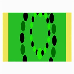 Circular Dot Selections Green Yellow Black Large Glasses Cloth (2 Side) by Alisyart