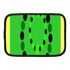 Circular Dot Selections Green Yellow Black Netbook Case (medium)  by Alisyart