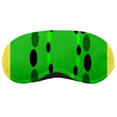 Circular Dot Selections Green Yellow Black Sleeping Masks by Alisyart