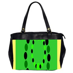 Circular Dot Selections Green Yellow Black Office Handbags (2 Sides)  by Alisyart