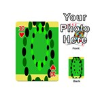 Circular Dot Selections Green Yellow Black Playing Cards 54 (Mini)  Front - Heart10