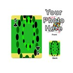 Circular Dot Selections Green Yellow Black Playing Cards 54 (Mini)  Front - Club5