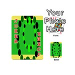 Circular Dot Selections Green Yellow Black Playing Cards 54 (Mini)  Front - Joker2