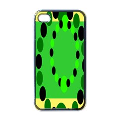Circular Dot Selections Green Yellow Black Apple Iphone 4 Case (black) by Alisyart