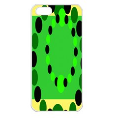 Circular Dot Selections Green Yellow Black Apple Iphone 5 Seamless Case (white) by Alisyart