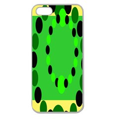 Circular Dot Selections Green Yellow Black Apple Seamless Iphone 5 Case (clear) by Alisyart