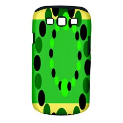 Circular Dot Selections Green Yellow Black Samsung Galaxy S Iii Classic Hardshell Case (pc+silicone) by Alisyart