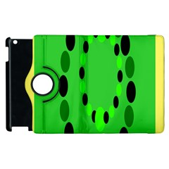 Circular Dot Selections Green Yellow Black Apple Ipad 3/4 Flip 360 Case by Alisyart