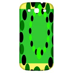 Circular Dot Selections Green Yellow Black Samsung Galaxy S3 S Iii Classic Hardshell Back Case by Alisyart