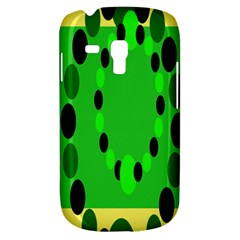 Circular Dot Selections Green Yellow Black Galaxy S3 Mini by Alisyart