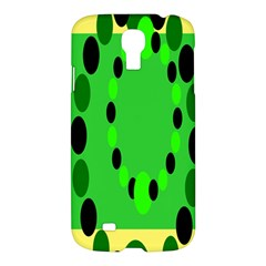 Circular Dot Selections Green Yellow Black Samsung Galaxy S4 I9500/i9505 Hardshell Case by Alisyart