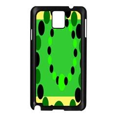 Circular Dot Selections Green Yellow Black Samsung Galaxy Note 3 N9005 Case (black) by Alisyart