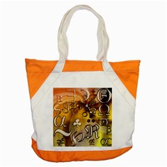 Symbols On Gradient Background Embossed Accent Tote Bag by Amaryn4rt
