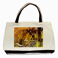 Symbols On Gradient Background Embossed Basic Tote Bag (two Sides) by Amaryn4rt