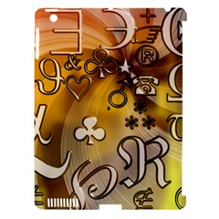 Symbols On Gradient Background Embossed Apple Ipad 3/4 Hardshell Case (compatible With Smart Cover) by Amaryn4rt