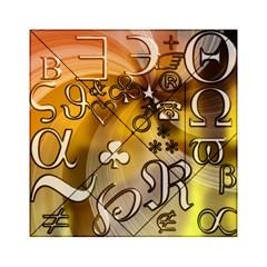 Symbols On Gradient Background Embossed Acrylic Tangram Puzzle (6  X 6 )