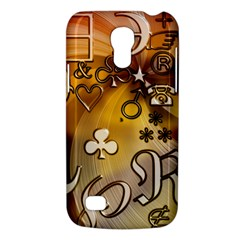 Symbols On Gradient Background Embossed Galaxy S4 Mini by Amaryn4rt