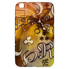 Symbols On Gradient Background Embossed Samsung Galaxy Tab 3 (8 ) T3100 Hardshell Case