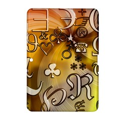 Symbols On Gradient Background Embossed Samsung Galaxy Tab 2 (10 1 ) P5100 Hardshell Case  by Amaryn4rt