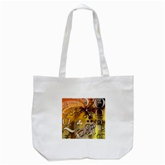 Symbols On Gradient Background Embossed Tote Bag (white) by Amaryn4rt