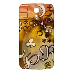 Symbols On Gradient Background Embossed Samsung Galaxy Mega I9200 Hardshell Back Case by Amaryn4rt