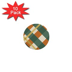 Autumn Plaid 1  Mini Buttons (10 Pack)  by Alisyart