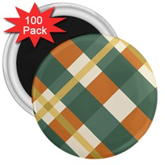 Autumn Plaid 3  Magnets (100 Pack) by Alisyart
