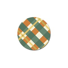 Autumn Plaid Golf Ball Marker by Alisyart
