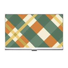 Autumn Plaid Business Card Holders by Alisyart
