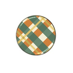 Autumn Plaid Hat Clip Ball Marker (4 Pack) by Alisyart