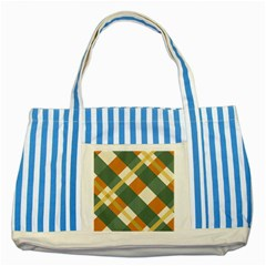 Autumn Plaid Striped Blue Tote Bag by Alisyart