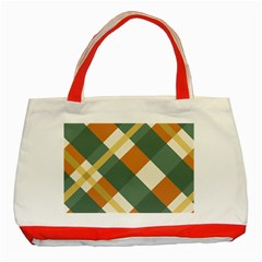 Autumn Plaid Classic Tote Bag (red) by Alisyart
