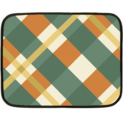 Autumn Plaid Fleece Blanket (mini) by Alisyart
