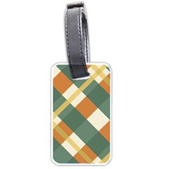 Autumn Plaid Luggage Tags (one Side)  by Alisyart