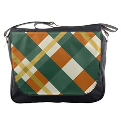 Autumn Plaid Messenger Bags by Alisyart