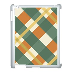Autumn Plaid Apple Ipad 3/4 Case (white) by Alisyart