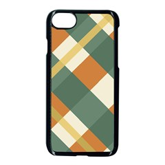 Autumn Plaid Apple Iphone 7 Seamless Case (black) by Alisyart