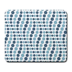 Circle Blue Grey Line Waves Large Mousepads by Alisyart