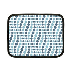 Circle Blue Grey Line Waves Netbook Case (small)  by Alisyart